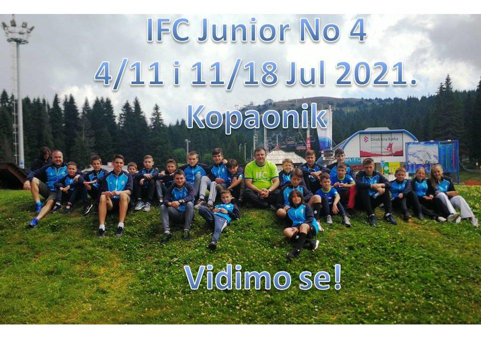 IFC Junior No4. 4/11 & 11/18 Jul 2021.